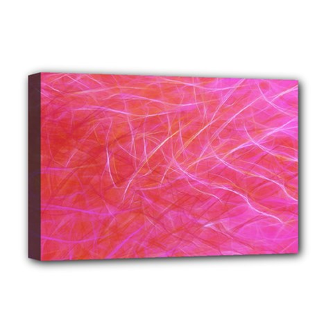 Pink Background Abstract Texture Deluxe Canvas 18  X 12   by Nexatart