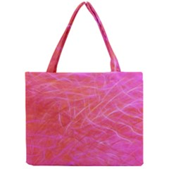 Pink Background Abstract Texture Mini Tote Bag