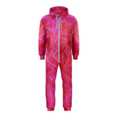Pink Background Abstract Texture Hooded Jumpsuit (kids)