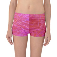 Pink Background Abstract Texture Reversible Boyleg Bikini Bottoms