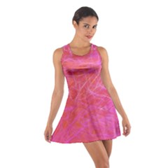 Pink Background Abstract Texture Cotton Racerback Dress
