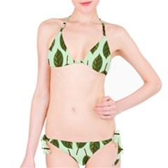 Design Pattern Background Green Classic Bikini Set