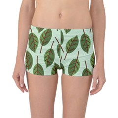Design Pattern Background Green Reversible Boyleg Bikini Bottoms
