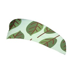 Design Pattern Background Green Stretchable Headband