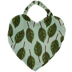 Design Pattern Background Green Giant Heart Shaped Tote