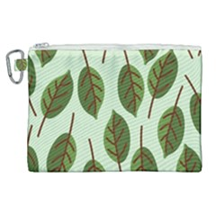 Design Pattern Background Green Canvas Cosmetic Bag (xl) by Nexatart