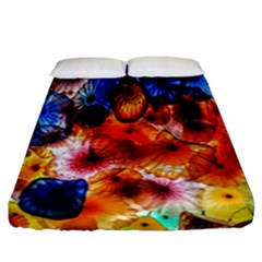 Ornament Color Vivid Pattern Art Fitted Sheet (california King Size)