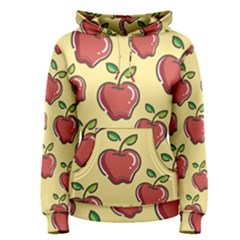Seamless Pattern Healthy Fruit Women s Pullover Hoodie