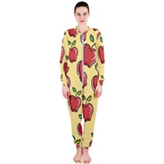 Seamless Pattern Healthy Fruit Onepiece Jumpsuit (ladies)