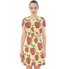 Seamless Pattern Healthy Fruit Adorable In Chiffon Dress