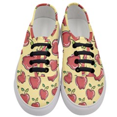 Seamless Pattern Healthy Fruit Women s Classic Low Top Sneakers