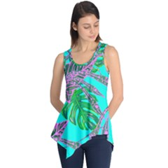 Painting Oil Leaves Nature Reason Sleeveless Tunic