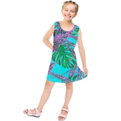 Painting Oil Leaves Nature Reason Kids  Tunic Dress