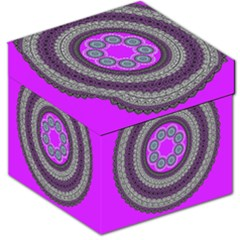 Round Pattern Ethnic Design Storage Stool 12