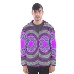 Round Pattern Ethnic Design Hooded Windbreaker (men)