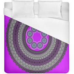 Round Pattern Ethnic Design Duvet Cover (king Size) by Nexatart