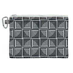 Pattern Op Art Black White Grey Canvas Cosmetic Bag (xl) by Nexatart