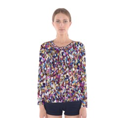 Pattern Abstract Decoration Art Women s Long Sleeve Tee