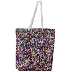 Pattern Abstract Decoration Art Full Print Rope Handle Tote (large)