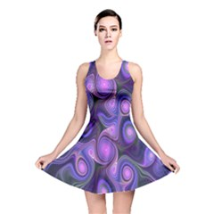 Abstract Pattern Fractal Wallpaper Reversible Skater Dress