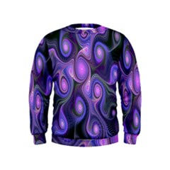 Abstract Pattern Fractal Wallpaper Kids  Sweatshirt