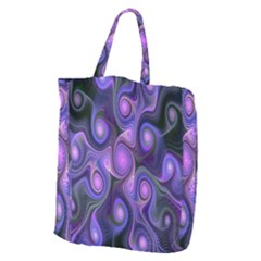 Abstract Pattern Fractal Wallpaper Giant Grocery Tote