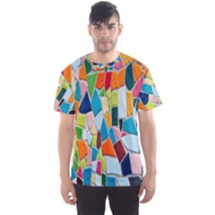Mosaic Tiles Pattern Texture Men s Sports Mesh Tee