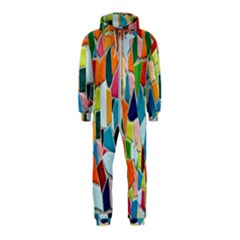 Mosaic Tiles Pattern Texture Hooded Jumpsuit (kids)