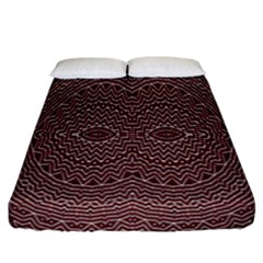 Design Pattern Abstract Fitted Sheet (california King Size)