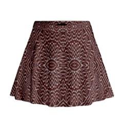 Design Pattern Abstract Mini Flare Skirt