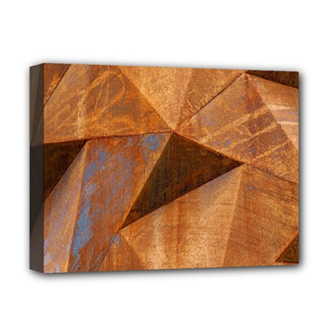 Steel Corten Steel Brown Steel Deluxe Canvas 16  X 12