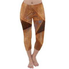 Steel Corten Steel Brown Steel Capri Winter Leggings