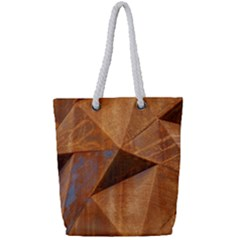Steel Corten Steel Brown Steel Full Print Rope Handle Tote (small)