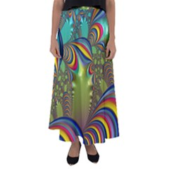 Amazing Fractal 5182 Flared Maxi Skirt