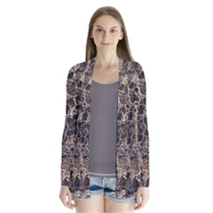 Granite 0525 Drape Collar Cardigan