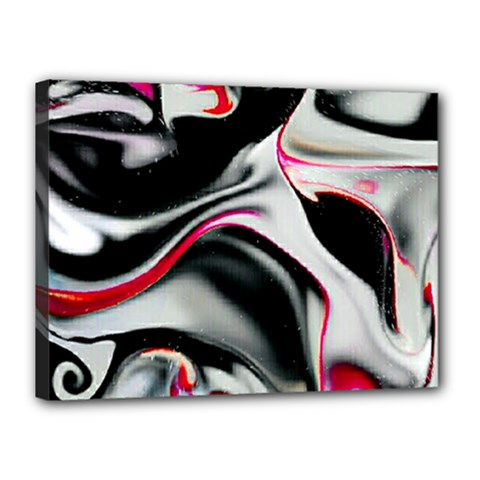 Pink And Black Smokey Design By Kiekie Strickland Canvas 16  X 12