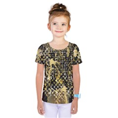 Retro Design In Gold And Silver Created By Kiekie Strickland Flipstylezdesigns Kids  One Piece Tee