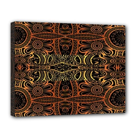 Gorgeous Aztec Design By Kiekie Strickland Canvas 14  X 11
