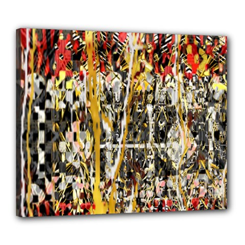 Retro Orange Black And White Liquid Gold  By Kiekie Strickland Canvas 24  X 20