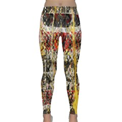 Retro Orange Black And White Liquid Gold  By Kiekie Strickland Classic Yoga Leggings