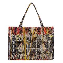 Retro Orange Black And White Liquid Gold  By Kiekie Strickland Medium Tote Bag by flipstylezdes