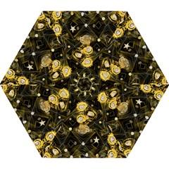 Decorative Icons Original Gold And Diamonds Creative Design By Kiekie Strickland Mini Folding Umbrellas