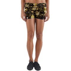 Decorative Icons Original Gold And Diamonds Creative Design By Kiekie Strickland Yoga Shorts