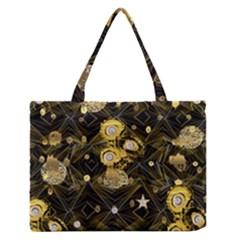Decorative Icons Original Gold And Diamonds Creative Design By Kiekie Strickland Zipper Medium Tote Bag