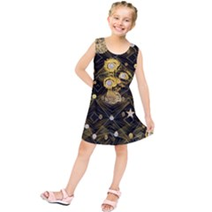 Decorative Icons Original Gold And Diamonds Creative Design By Kiekie Strickland Kids  Tunic Dress
