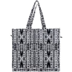 Creative Retro Black And White Abstract Vector Designs By Kiekie Strickland Canvas Travel Bag by flipstylezdes