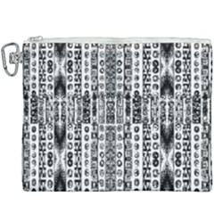 Creative Retro Black And White Abstract Vector Designs By Kiekie Strickland Canvas Cosmetic Bag (xxxl)