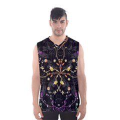 Beautiful Floral Swirl Brushes Vector Design Men s Basketball Tank Top