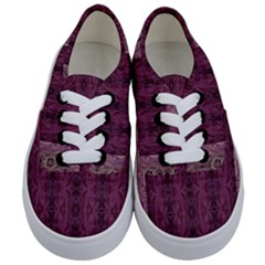 Beautiful Decorative Creative Purple Seamless Design By Kiekie Stricklnd Kids  Classic Low Top Sneakers