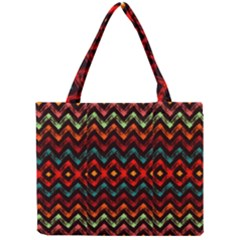 Seamless Native Zigzags By Flipstylez Designs Mini Tote Bag by flipstylezdes